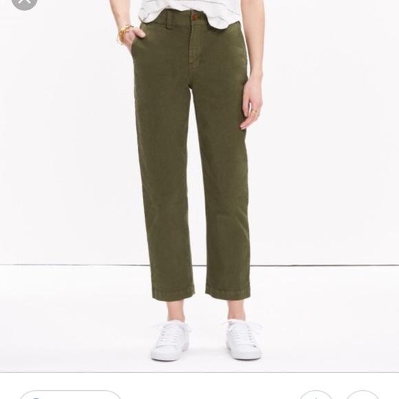 73f5289fff Madewell Pants - Madewell cruiser straight chino pants in green